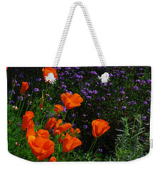 Weekender Tote Bag featuring the photograph California Poppies by Lynn Bauer