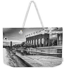 Weekender Tote Bag featuring the photograph Canal Walk by Howard Salmon
