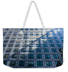 Canary Wharf Tower Weekender Tote Bag by David Pyatt