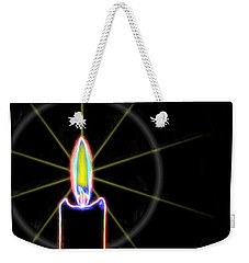 Weekender Tote Bag featuring the photograph Candle by Ludwig Keck