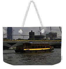 Cartoon - Colorful River Cruise Boat In Singapore Weekender Tote Bag