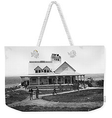 Casino At The Top Of Mt Beacon In Black And White Weekender Tote Bag