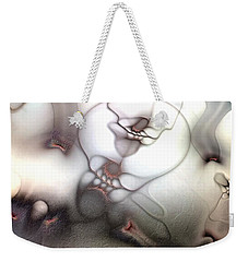 Weekender Tote Bag featuring the digital art Ceaseless Vicissitude by Casey Kotas