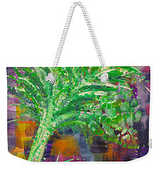 Weekender Tote Bag featuring the painting Celery Tree by Holly Carmichael