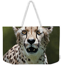 Cheetah Portrait Weekender Tote Bag