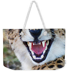 Cheetah With Attitude Weekender Tote Bag by Stanza Widen