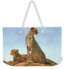 Cheetahs Weekender Tote Bag by David Stribbling