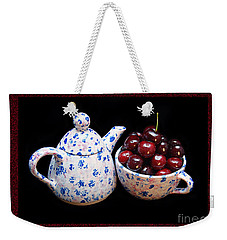 Cherries Invited To Tea 2 Weekender Tote Bag