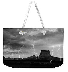 Weekender Tote Bag featuring the photograph Chief Mountain   Montana by J L Woody Wooden