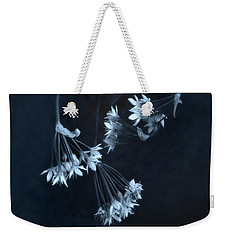 Weekender Tote Bag featuring the photograph Chive Blossoms by Louise Kumpf