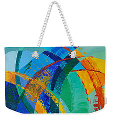 Weekender Tote Bag featuring the painting Choices by Linda Bailey