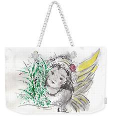 Christmas Angel Weekender Tote Bag by Laurie L