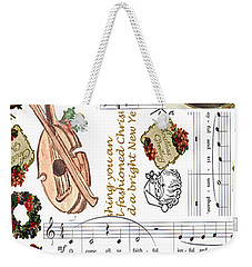 Christmas Collage Weekender Tote Bag