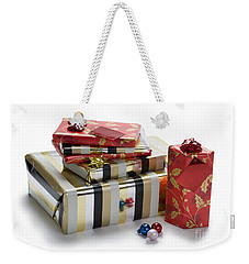 Weekender Tote Bag featuring the photograph Christmas Gifts by Lee Avison