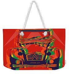 Citroen 2cv Weekender Tote Bag by Jean luc Comperat