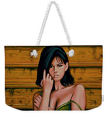 Claudia Cardinale Painting Weekender Tote Bag by Paul Meijering