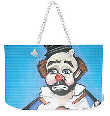 Weekender Tote Bag featuring the painting Clown by Nora Shepley