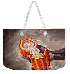 Cocoa Pod In Hand Weekender Tote Bag