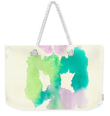 Weekender Tote Bag featuring the painting Cocoon by Frank Bright