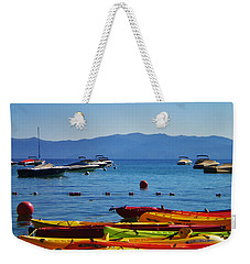 Colorful Kayaks Lake Tahoe Weekender Tote Bag