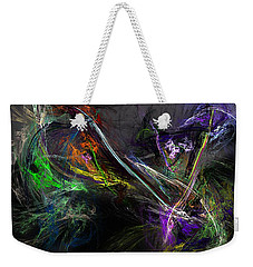 Weekender Tote Bag featuring the digital art Conflict by David Lane