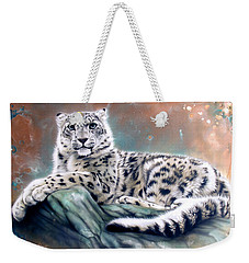 Copper Snow Leopard Weekender Tote Bag