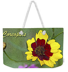 Coreopsis Flower And Buds Weekender Tote Bag by A Gurmankin