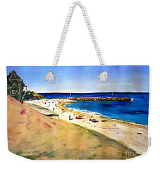 Weekender Tote Bag featuring the painting Cottesloe Beach by Therese Alcorn