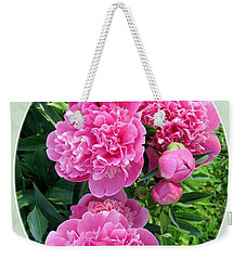 Country Peonies Weekender Tote Bag by Will Borden
