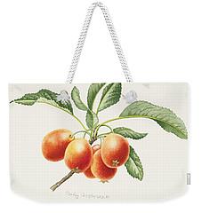 Crab Apples Weekender Tote Bag by Sally Crosthwaite