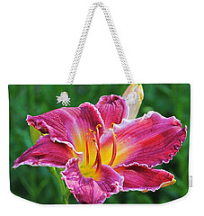 Crimson Day Lily Weekender Tote Bag