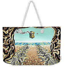 Weekender Tote Bag featuring the painting Cult Erie by Ryan Demaree