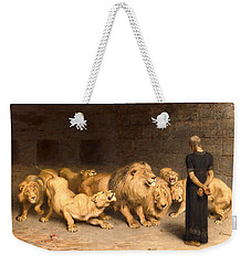 Daniel In The Lions' Den Weekender Tote Bag by Briton Riviere