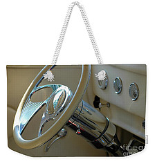 Weekender Tote Bag featuring the photograph Dashboard Glam by Christiane Hellner-OBrien