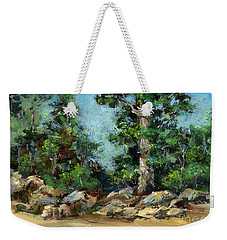Rocks Along The Road Weekender Tote Bag
