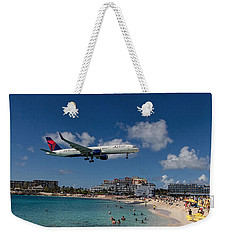 Delta Air Lines Landing At St Maarten Weekender Tote Bag
