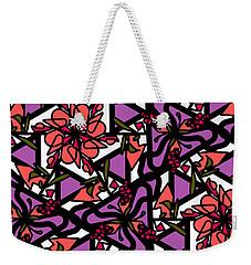 Weekender Tote Bag featuring the digital art Digi-flora by Elizabeth McTaggart