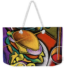 Food And Beverage Weekender Tote Bag by Leon Zernitsky