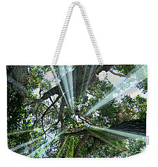 Weekender Tote Bag featuring the mixed media Divinity In Nature by Leanne Seymour