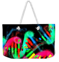 Weekender Tote Bag featuring the digital art Dna Dreaming 7 by Russell Kightley