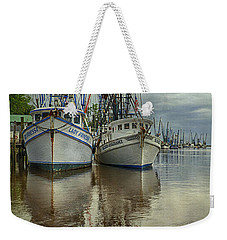 Weekender Tote Bag featuring the photograph Docked by Priscilla Burgers