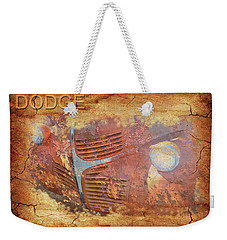 Weekender Tote Bag featuring the photograph Dodge In Rust by Larry Bishop