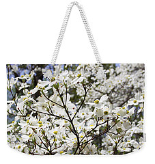 Weekender Tote Bag featuring the photograph Dogwood by PJ Boylan