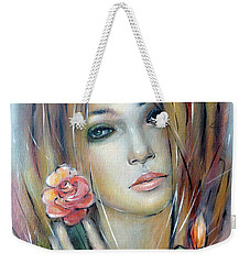 Doll With Roses 010111 Weekender Tote Bag by Selena Boron