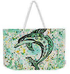 Weekender Tote Bag featuring the painting Dolphin 2 by Darice Machel McGuire