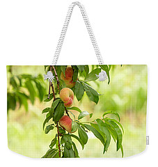 Donut Peaches Weekender Tote Bag by Iris Richardson