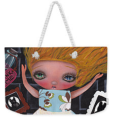 Down The Rabbit Hole Weekender Tote Bag by Abril Andrade Griffith