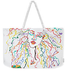 Dreadlocks Piano Goddess Weekender Tote Bag