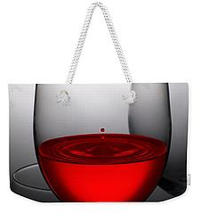 Drops Of Wine In Wine Glasses Weekender Tote Bag
