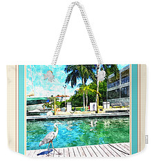 Dry Dock Bird Walk - Digitally Framed Weekender Tote Bag